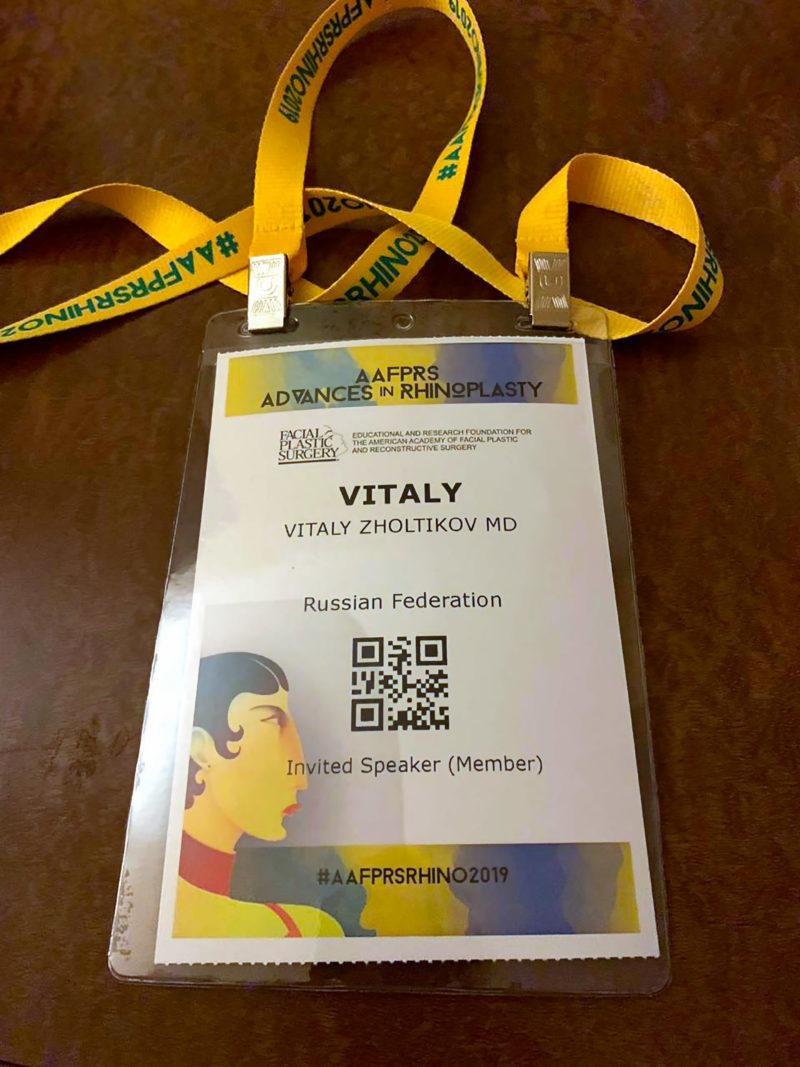 Advances in Rhinoplasty 2019 в Орландо — Виталий Жолтиков